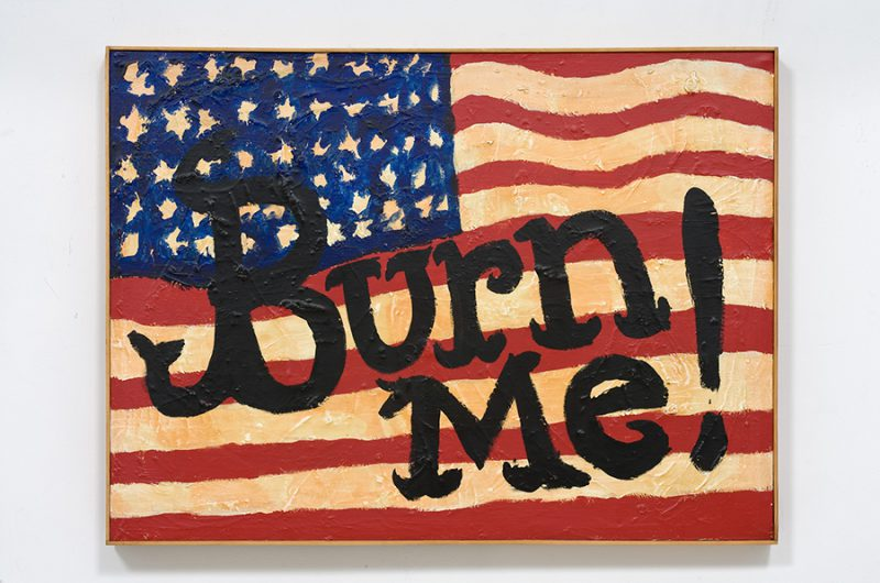 Burn Me, 1990. Oil on canvas, 26.5 x 36 inches. Courtesy of The Box.