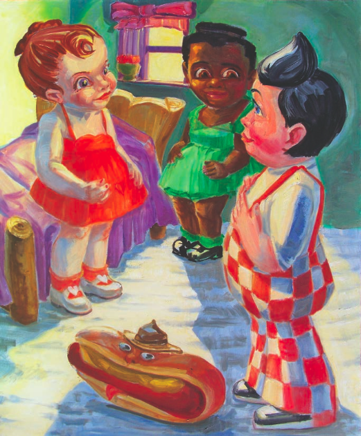 James Albertson, Big Boy in the Bedroom, 2001. Oil on canvas, 36 x 29 inches. Courtesy of the Albertson/Stagg Collection.