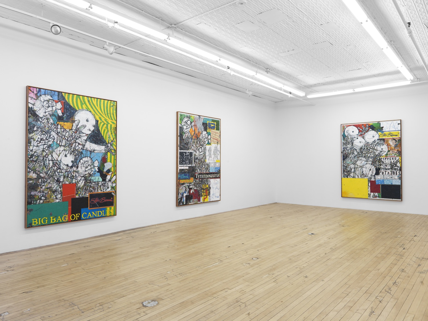 Installation view, Hills & Dales, Zachary Armstrong at Feuer/Mesler, New York, 2016. Courtesy of Feuer/Mesler.