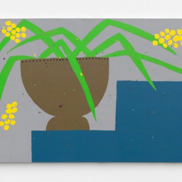 Untitled (BR1658), 2016. Enamel on panel, 40 x 90 inches. Courtesy of ZieherSmith.