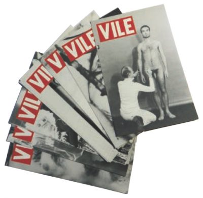 "Promotional postcards, ""VILE"" magazine, Anna Banana, Editor. From the collection of John Held, Jr."