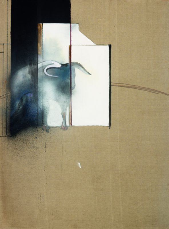 Francis Bacon, Study of a Bull, 1991. Oil on canvas 198 x 147,5 cm. Private Collection © The Estate of Francis Bacon. All rights reserved, DACS 2016. Photo: Prudence Cuming Associates Ltd