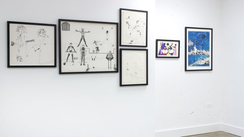Installation view, works by Kitty Brophy on view in Gardens of the Pure at MOCA Tucson, 2016. Courtesy of the Museum of Contemporary Art Tucson.
