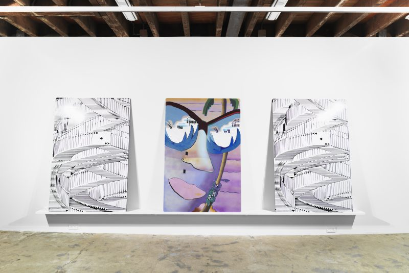 Installation view, Melissa Brown: Past Present Future at Magenta Plains, New York, 2016. Image courtesy of the artist and Magenta Plains.