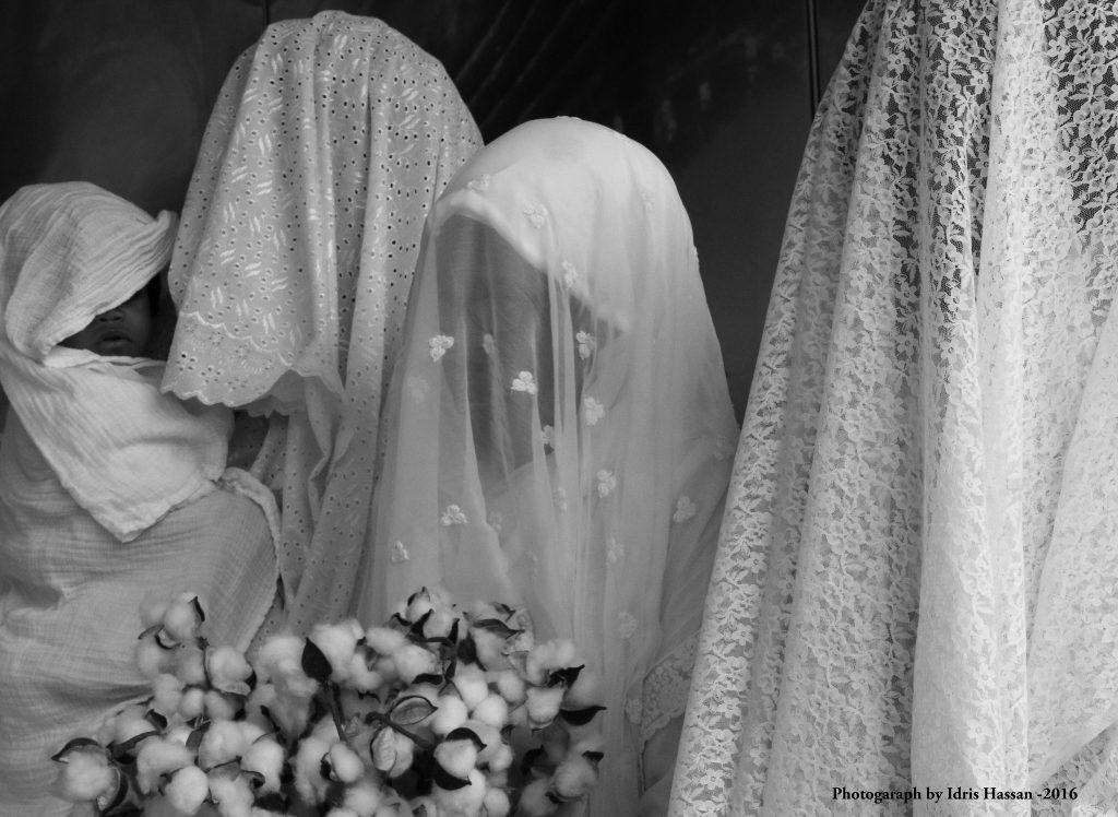 Karen Seneferu and Idris Hassan, Hotcomb: The Masquerade (video still). Courtesy of SOMArts Cultural Center.