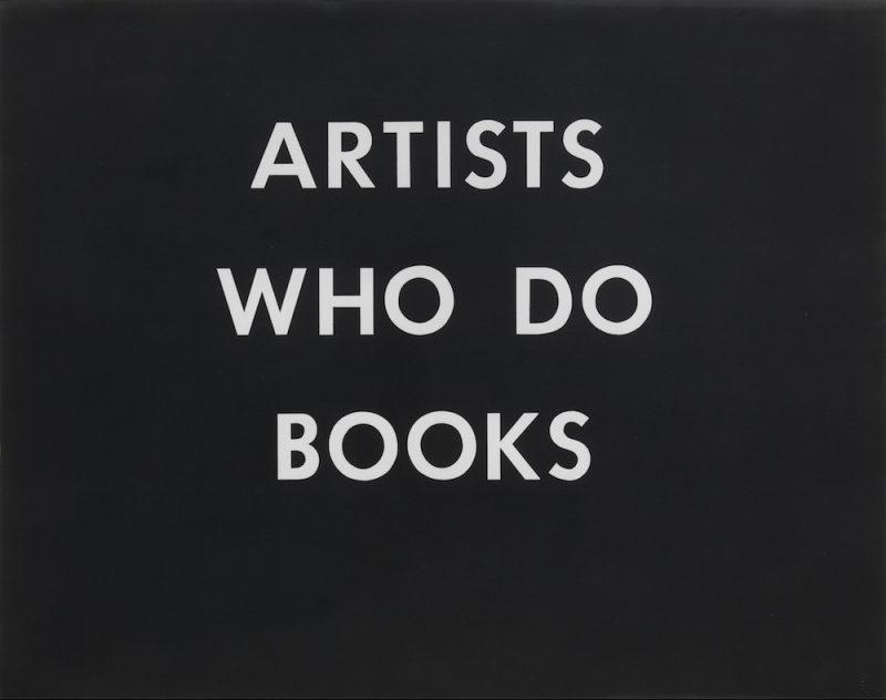 Ed Ruscha, Artists Who Do Books, 1976. Print, 22.75 × 28.75 inches. © Ed Ruscha. Courtesy of Gagosian Gallery.