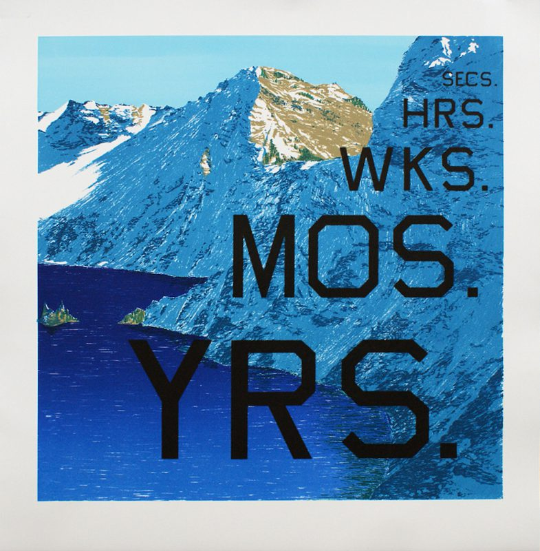 Ed Ruscha, Periods, 2013. Lithograph, 28.75 × 28 inches. Edition of 60. © Ed Ruscha. Courtesy of Gagosian Gallery.