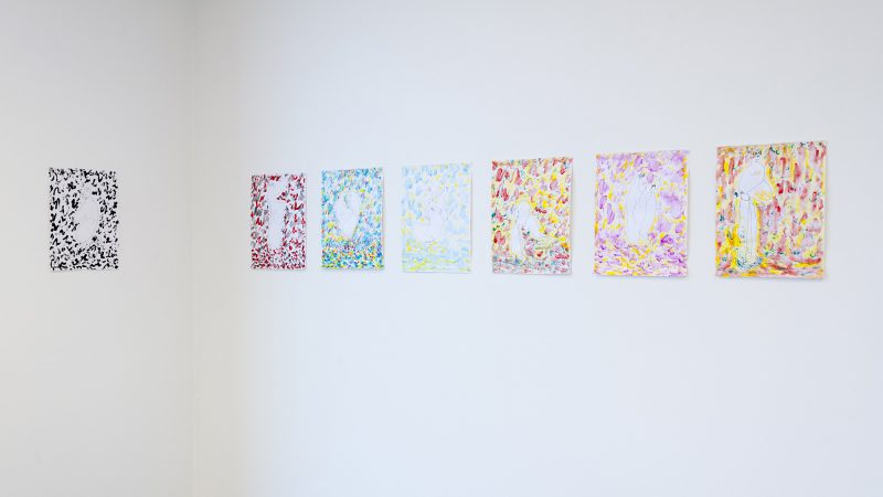 Alice Mackler, Twenty-five drawings. Gouache and pen on paper, 14 x 11 inches. Courtesy of the Museum of Contemporary Art Tucson.