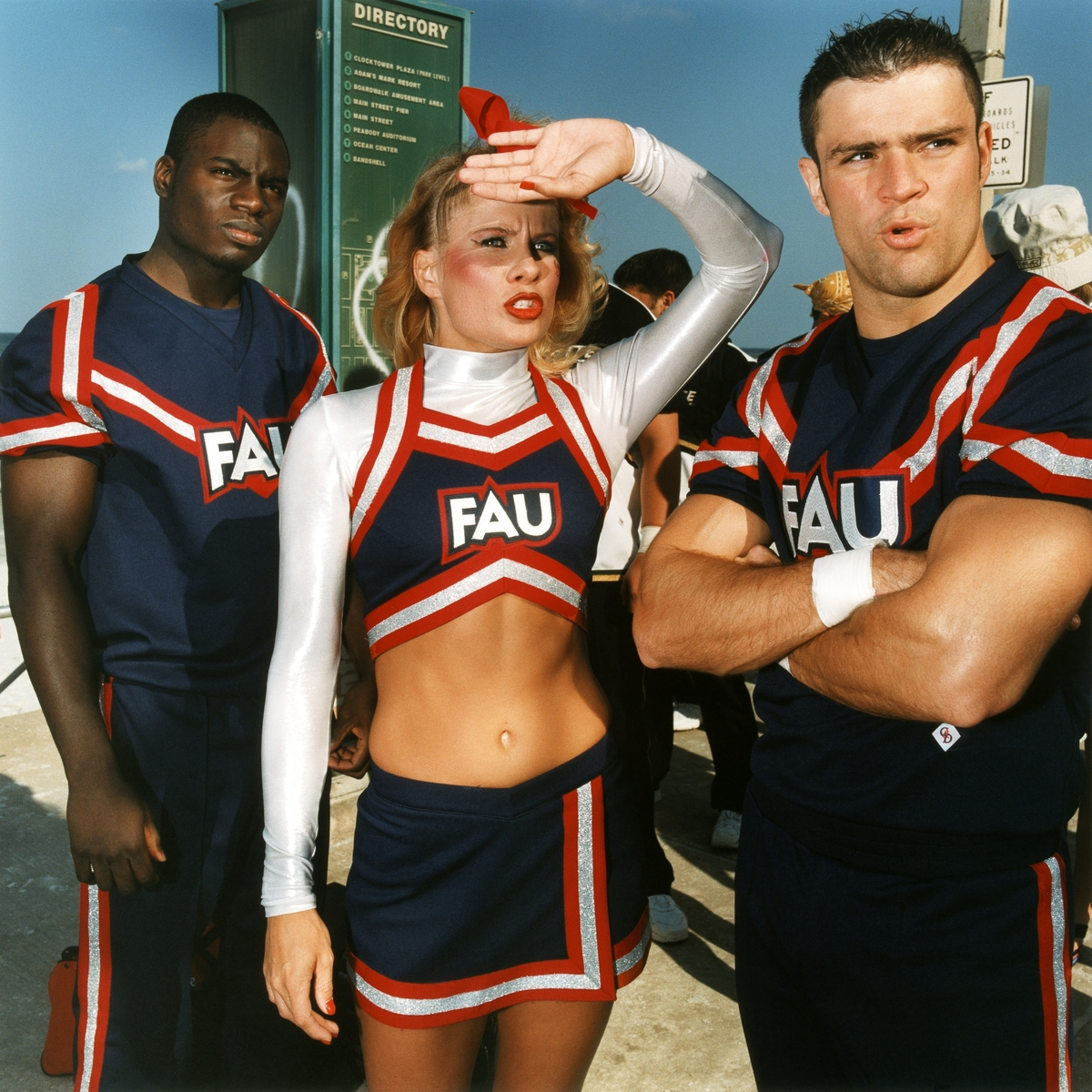 Brian Finke (American, born 1976), Untitled (Cheerleading #81), 2001, printed 2003. Chromogenic print, 30 x 30 inches. (76.2 x 76.2 cm). Courtesy of the artist and the Brooklyn Museum.