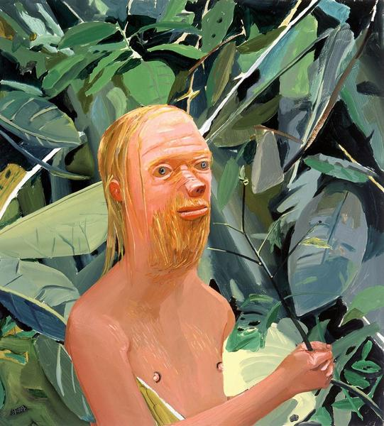 Dana Schutz, Frank as a Proboscis Monkey, 2002. Oil on canvas, 35.75 x 31.75 inches. Courtesy of Cheim & Read.