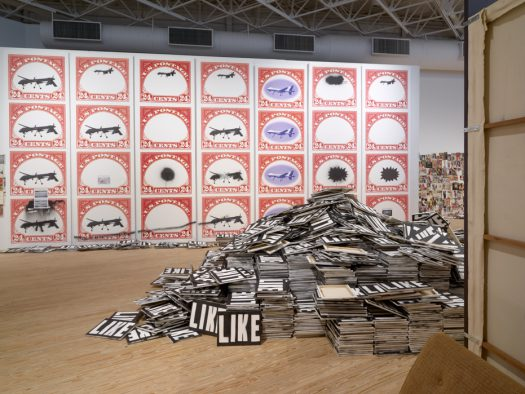 "Installation view of ""Mark Flood: Gratest Hits"", at The Contemporary Arts Museum Houston, 2016."
