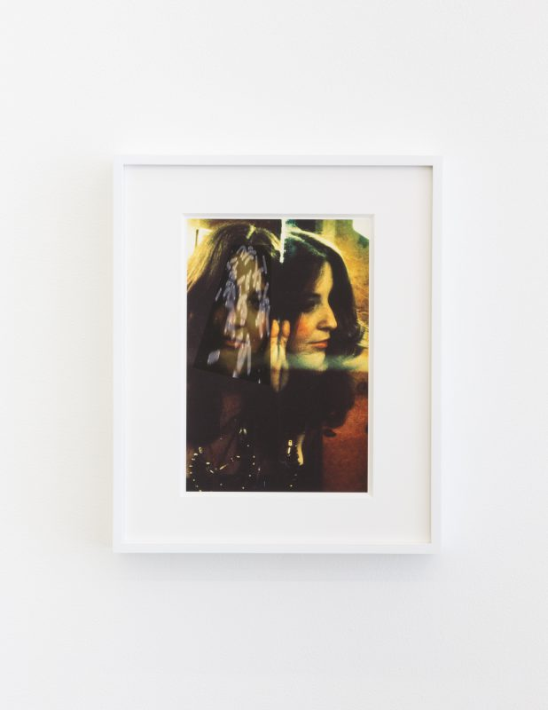 Lynn Hershman Leeson, Portrait with Aging Gene, 2016. Edition 1 of 6, Archival digital print. Image size: 11 x 8.5 inches / 27.9 x 21.6 cm, Framed size: 14.5 x 12 inches / 36.8 x 30.5 cm. Courtesy of Jessica Silverman Gallery