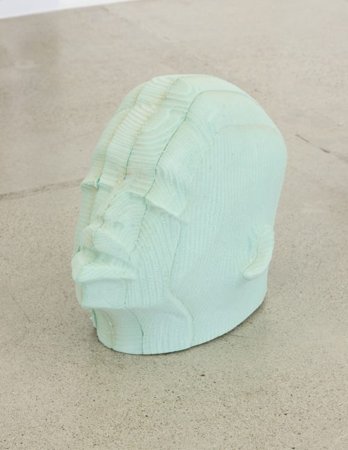 Matthew Angelo Harrison, Post-Chronology Series, Head #1, 2016. Open-cell polyurethane foam, 20 x 17 x 12 inches / 50.8 x 43.2 x 30.5 cm. Courtesy of Jessica Silverman Gallery.