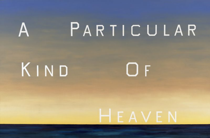 Ed Ruscha, A Particular Kind of Heaven, 1983. Oil on canvas, 90 x 136 1/2 in. Fine Arts Museums of San Francisco, Museum purchase, Mrs. Paul L. Wattis Fund, 2001.85 © Ed Ruscha