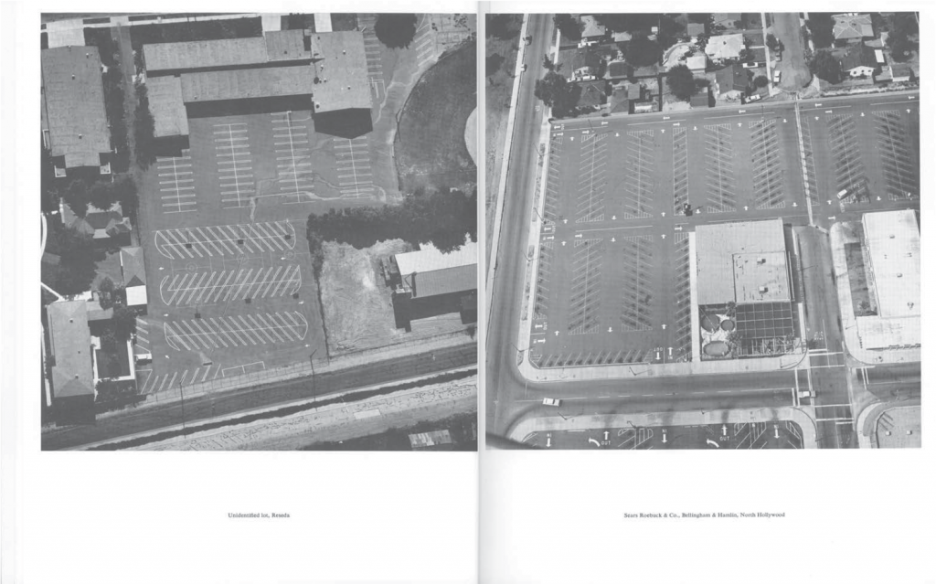 THIRTYFOUR PARKING LOTS, 1967. © Ed Ruscha. Courtesy of the artist and Gagosian Gallery.