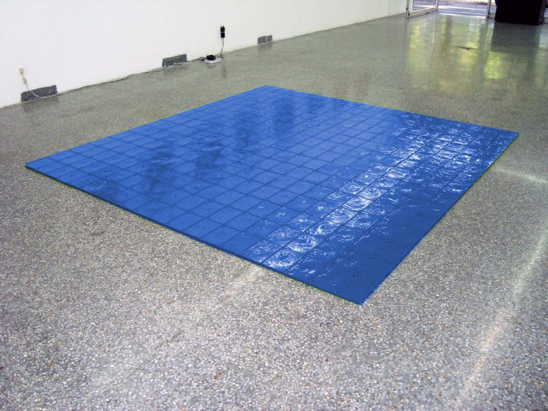 Quadrato blu-ray HD (2008), Blu-ray cases acquired in 2015. Collection Stedelijk Museum Amsterdam. Courtesy Stedelijk Museum Amsterdam.