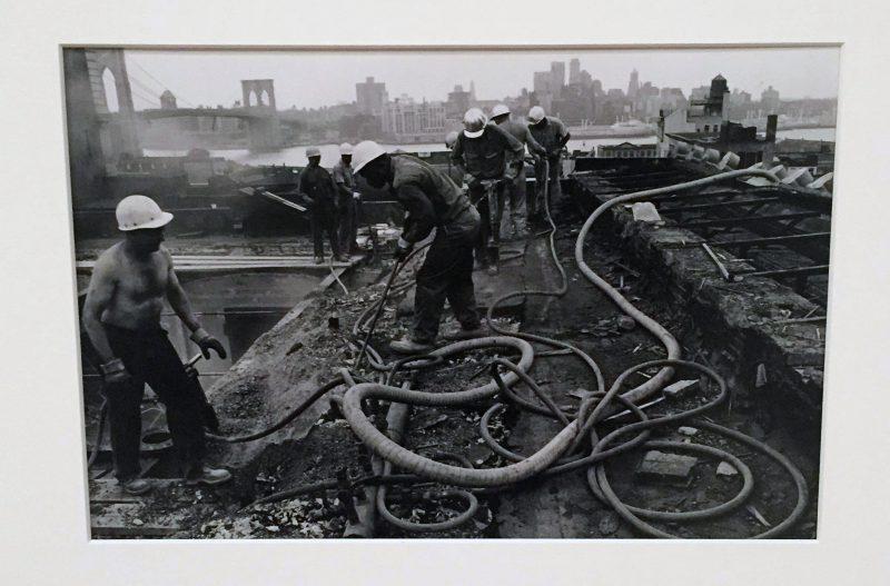 Danny Lyon, Roof, 80 Beekman Street, New York, 1967. Gelatin silver print, 20.6 x 30.7 cm (8 1/18 x 12 1/8 in.) Collection of Melissa Schiff Soros and Robert Soros