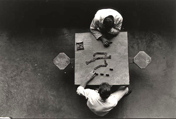 Danny Lyon, Cell-Block Table, The Walls, Texas, 1967 Gelatin silver print Image 22.1 x 33 cm (8 3/4 x 13 in.); sheet 27.9 x 35.6 cm (11 x 14 in.) Collection of the artist