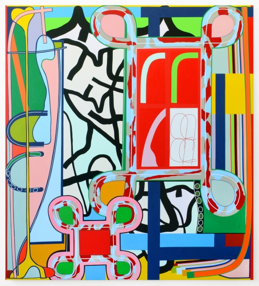 Eric Shaw, Legerdemain, 2016. Acrylic on canvas, 60 x 54 inches. Courtesy of Hollis Taggart Galleries.