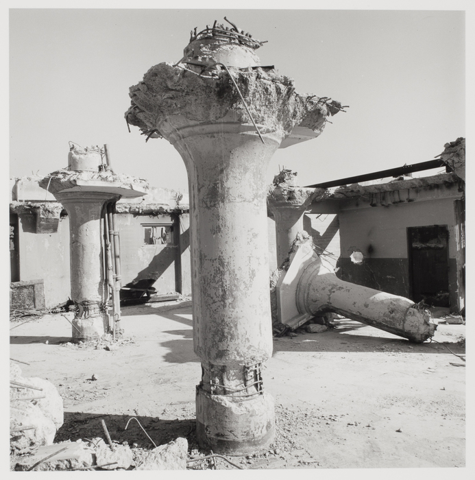 Danny Lyon, Ruins of 100 Gold Street, New York, 1967. Gelatin silver print 23.6 x 23.4 cm (9 5/16 x 10 7/16 in.) Collection of Melissa Schiff Soros and Robert Soros
