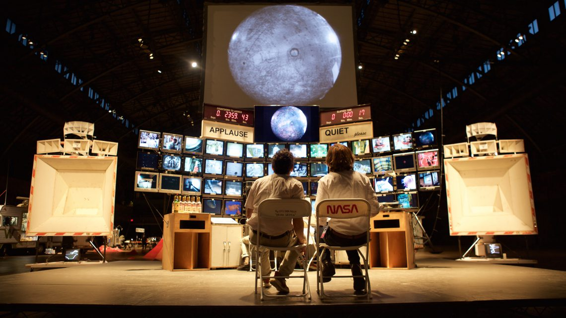 Mission Control Center (MCC), 2007. Mixed media, 117.375 x 193.125 x 59.875 inches. Courtesy of the artist and Yerba Buena Center for the Arts.