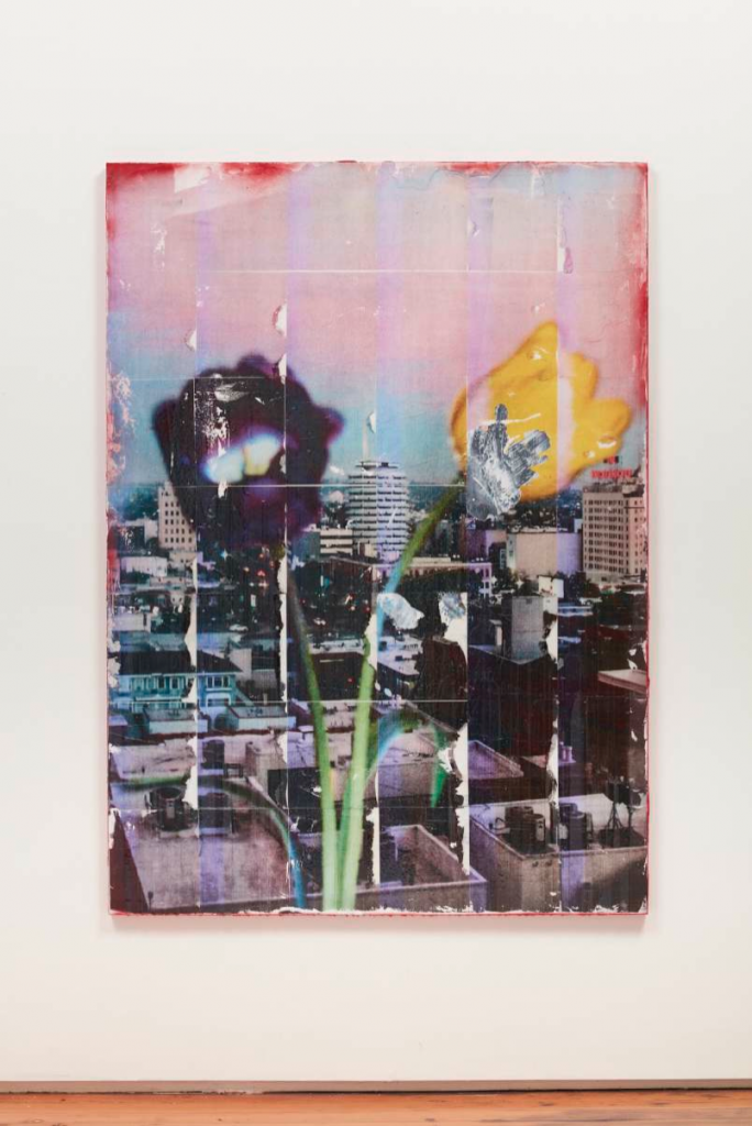 Capitol Records Shit Toots (parker's painting), 2016. Acrylic, toner, and gloss varnish on canvas, 64 x 46 x 1 inches. Unique. Courtesy of Château Shatto.