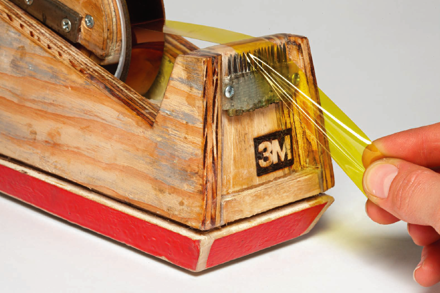 Tape Dispenser, 2012. Mixed media, 4.75 x 9.25 x 3.25 inches. Courtesy of the artist.