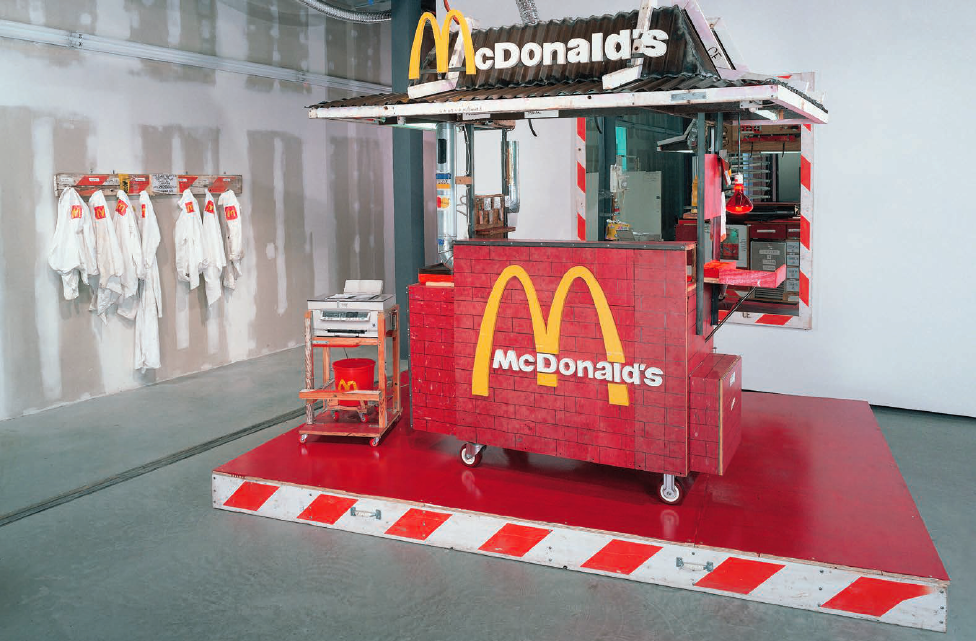 Nutsy's McDonald's, 2001. Mixed media, 96 x 74 x 72 inches. Courtesy of the artist.
