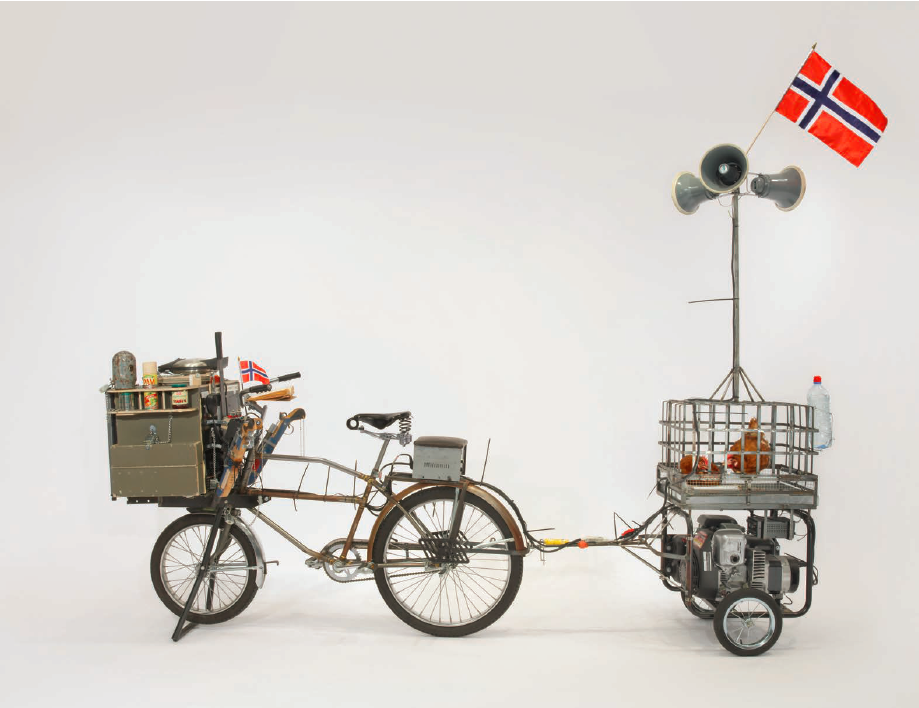 Waffle Bike, 2006. Mixed media, 105 x 125 x 29.5 inches. Courtesy of the artist.