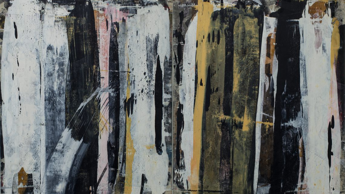 Ed Moses, Wall Layuca #2, 1989. Oil and acrylic on canvas, 78 x 132 inches. Courtesy of Albertz Benda and The Artist