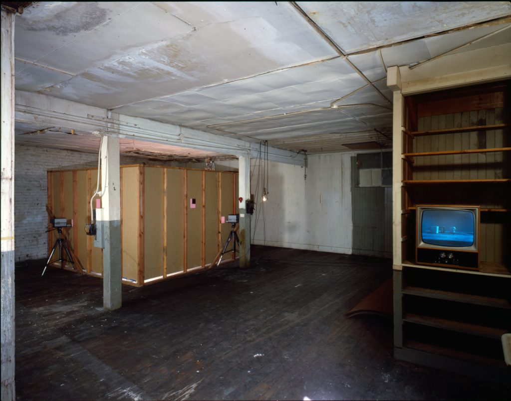 Howard Fried, Intraction, 1977. Installation view, Museum of Conceptual Art, San Francisco. Courtesy of the artist, The Box, and the Wattis Institute.