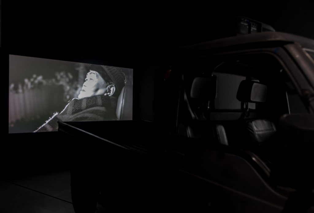 Chen Chieh-Jen, Wind Songs, 2015. Single channel video installation, blue-ray disc, b+w, sound in selected portions, 23 min 17 sec. Courtesy of Taipei Fine Arts Museum.