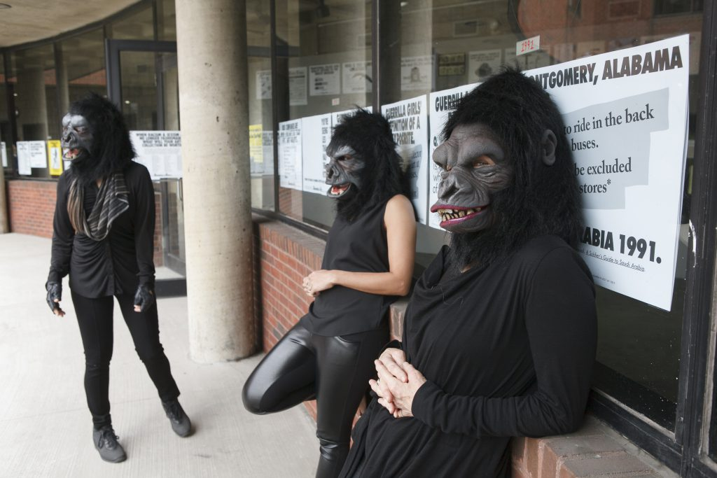 Guerrilla Girls, 2015. Photograph by Andrew Hindraker. Courtesy of the Guerrilla Girls and Whitechapel Gallery.