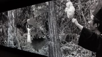 Park Chan-Kyong, Citizens Forest, 2016. 3-channel video, b + w, directional sound, 27 min. Courtesy of Taipei Fine Arts Museum.