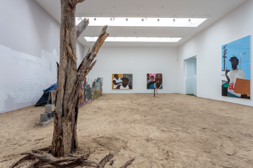 Henry Taylor, with a New Film by Kahlil Joseph Installation view, 2016. Blum & Poe, Los Angeles Photo: Joshua White/JWPictures.com