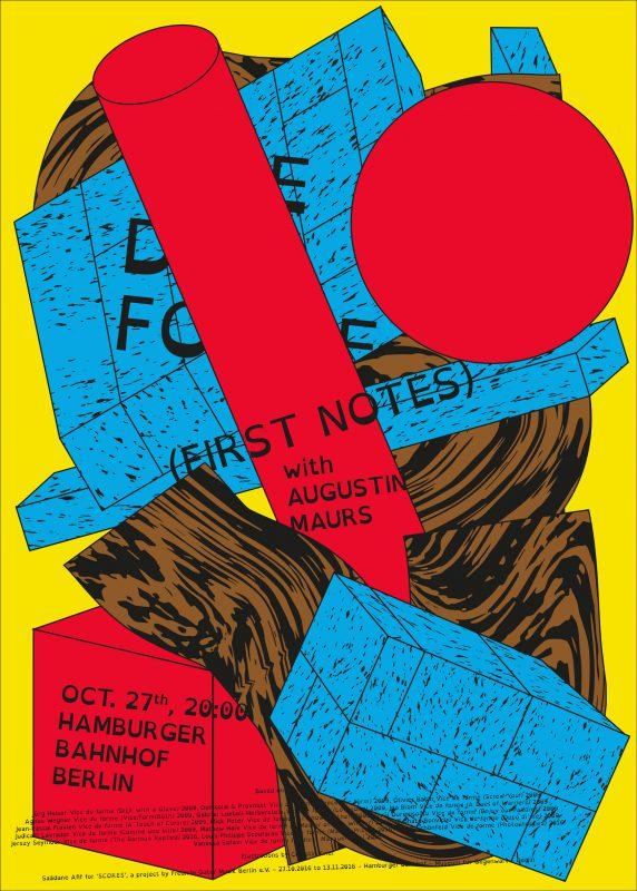 Saâdane Afif, Vice de forme: Das Kabarett (Posters), 2016 with Célestin Krier. Diptych, four- and five-colour screenprints on paper, 98 x 137 cm. Courtesy of the artist