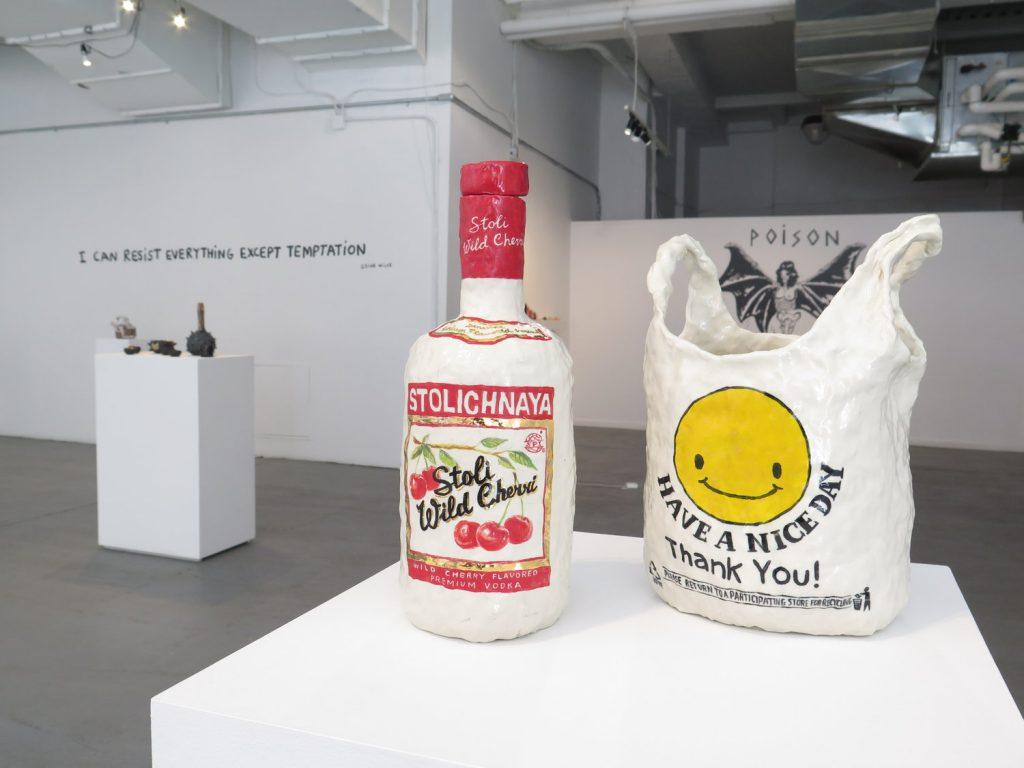 Installation view, Toxic Vice, Oksana Todorova at A+E Studios, New York, 2016.