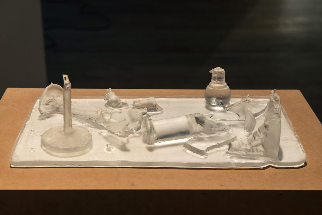 Jennifer & Kevin McCoy, Adeline, 2016. Cast glass, 8 x 15 x 4 inches, unique. Image courtesy of Postmasters.