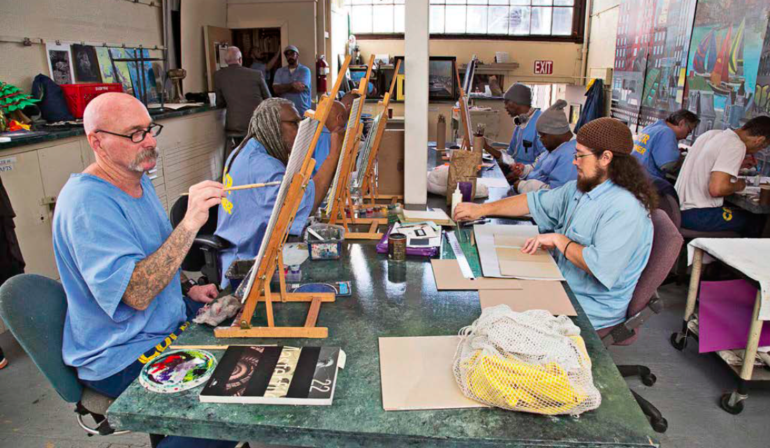 The art studio at San Quentin State Prison. Photograph by Peter Merts. Courtesy of San Quentin State Prison.