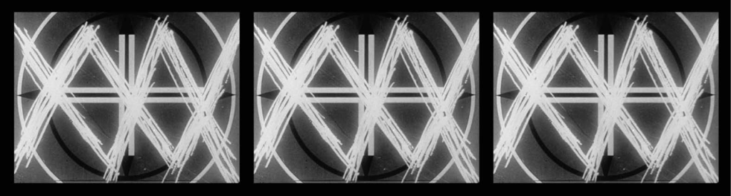 THREE SCREEN RAY, 2006. Three-channel video projection, black and white, sound, 5:14 min. San Francisco Museum of Modern Art, Accessions Committee Fund purchase. © 2016 Conner Family Trust, San Francisco / Artists Rights Society (ARS), New York