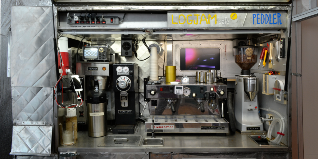 Tom Sachs, Logjam Café. Photograph by Celeste Layne. Courtesy of the artist and Yerba Buena Center for the Arts.