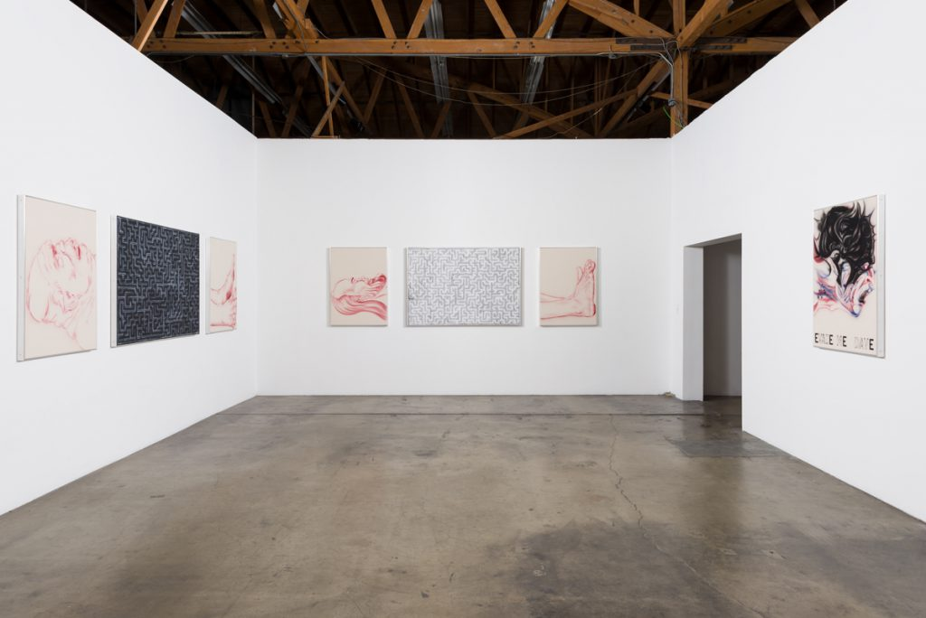 Installation view, Zoe Barcza, DR AWKWARD, Ghebaly Gallery, November 12 - December 23, 2016. Courtesy the artist and Ghebaly Gallery, Los Angeles. Photo: Jeff McLane